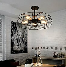 SDKKY Vintage Phoenix Ventilator Deckenleuchte