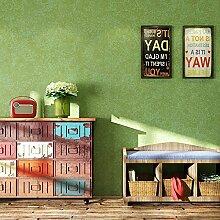 SDKKY Vintage Seide Vliestapeten Diatomeen Schleim - wie Schlafzimmer Wohnzimmer TV Hintergrund fleckige Tapete, grün Dekorative Wandpapier