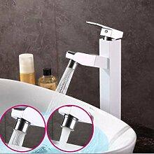 SDKKY Ziehen Sie Waschbecken Wasserhahn, Shampoo ziehbaren Wasserhahn, heiße und kalte Kupfer sog Armatur, Wasserhahn auf der Bühne, B