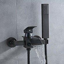 SDMQW Duschsystem Bad Badewanne Wasserhahn Einhand
