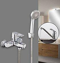 SDMQW Duschsystem Bad Dusche Wasserhahn mit