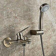 SDMQW Duschsystem Duscharmatur Wandmontage Antik