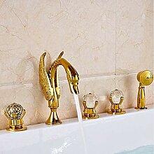 SDMQW Duschsystem Gold poliert Badezimmer