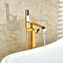 SDMQW Duschsystem Goldene Badewanne Wasserhahn