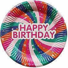 SDRTYHJ 10 Teile/Paket Geburtstagsfeier Nette Rosa