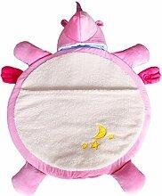 Sdtdia Einhorn Schlafen Tasche Mode Karikatur Krabbeln Decke Weich Spielmatte Mit Rutschfest Partikel zum Kleinkinder Kleinkinder Baby