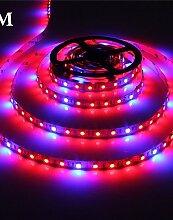SDYJQ 5 Meter wachsen LED Flexible Strip Band Licht 4 Rot: 1 Blau Aquarium Gewächshaus Hydroponic Pflanze, die Lampe