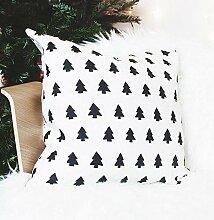 Se556th Scandi Weihnachtskissen mit Bäumen,