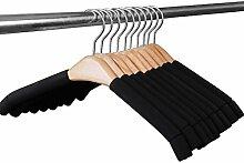 Se7ven Solid Kleiderbügel Haken-Mantel-Holz keine