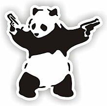 Sea view Stickers Banksy Panda Auto Van Aufkleber
