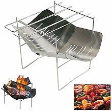 Seaan Mini-Edelstahl-Grill, tragbar, faltbar, für