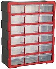 Sealey Cabinet Storage Box 18 Drawer Plastic -