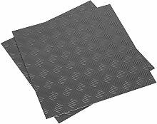 SEALEY ft1s Vinyl Bodenfliesen mit Einfach abziehen & Aufkleben–Silber treadplate 16Stück