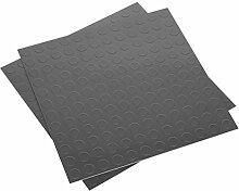SEALEY FT2S Vinyl Bodenfliesen mit Einfach abziehen & Aufkleben–Silber Coin 16Stück