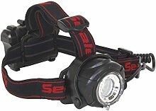 SEALEY ht107led Kopf Taschenlampe 5W CREE XPG LED mit einstellbarer Fokus und Helligkeit 3x AA Zelle