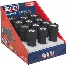 SEALEY led200db Taschenlampe SMD-LED, 1W, rot, Set 12Stück