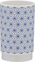Sealskin 361880421 Becher Triangles ABS Blau Badaccessoire, Plastik, 6.9 x 6.9 x 11.4 cm