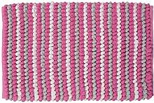 Sealskin Badteppich Bright, Extra-Soft, rosa, 80 x