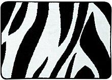 Sealskin Badteppich Safari, schwarz/weiß, 60 x 90