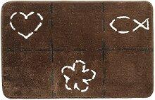 Sealskin Badteppich Tack, Farbe: Braun, 60 x 90 cm