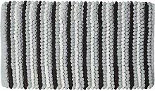 Sealskin Bright Badteppich, schwarz, 50 x 80 cm