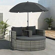 SEAPHY 2-Sitzer-Gartensofa mit Auflagen und