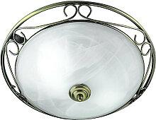 Searchlight - Antik Stil Messing Decken Lampe Wohn