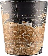 Searchyou - Papierkorb, 10 Liter Leder Vintage