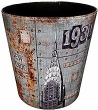 Searchyou - Papierkorb Vintage, 10 Liter Leder