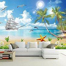 Seascape Beach Coconut Tree 3D-Fototapete