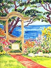 Seaside Gartenlaube Flagge, Polyester, mehrfarbig, S
