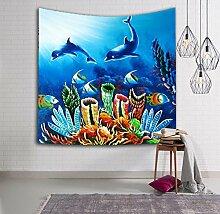 Seaworld Indische Mandala Tapisserie Wand Hängende Wandteppiche Bettdecke Strandtuch Yoga Matte Decke , 4 , 150x100