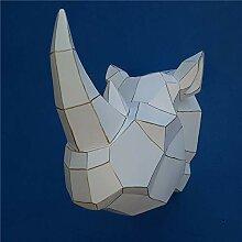 Sebasty Ornamente Rhino Tapete Resin Handwerk Heim