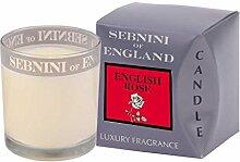 SEBNINI Englische Rose Wax Duftkerze im Glas, Weiß