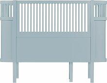 Sebra Baby/Junior Kinderbett Hellblau (b) 112.5 X (t) 70 X (h) 88 Cm