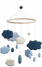 Sebra - Baby Mobile Wolken, blau