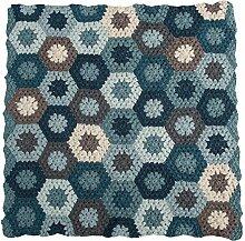 Sebra Baby-Spieldecke & Krabbeldecke aus 100% Baumwolle, handmade (85 x 85) in blau
