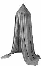 Sebra Baldachin Betthimmel aus Baumwolle in grau