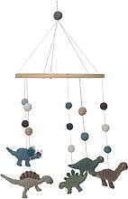 Sebra Crochet Baby Mobile, Dino