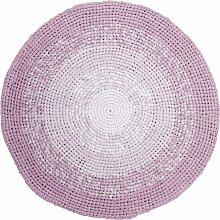 Sebra Gehäkelter Teppich 120 Rosa (Ø) 120.00 Cm