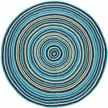 Sebra Häkel-Teppich aus Baumwolle Multicolor,