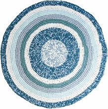 Sebra Häkel-Teppich aus Baumwolle rund (120 cm)
