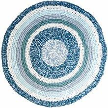 Sebra Häkel-Teppich Kinderteppich rund aus