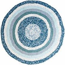 Sebra Häkelteppich, Dove Blue Melange