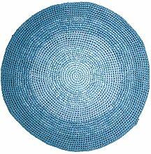 Sebra Häkelteppich, Gradient Blue