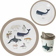 Sebra Kinder-Geschirr Set mit Teller, kleinem