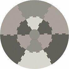 Sebra Puzzel Spielmatte Warmgrau (Ø) 122 Cm