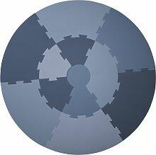 Sebra Puzzle Spielmatte Blau (Ø) 122 Cm