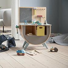 Sebra - Spielzeug-Werkbank, warm grey