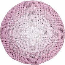 Sebra Teppich aus Baumwolle ´´Gradient rose´´